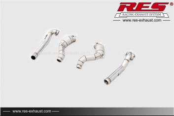 All SS304  Cat Downpipe With Heat Shield